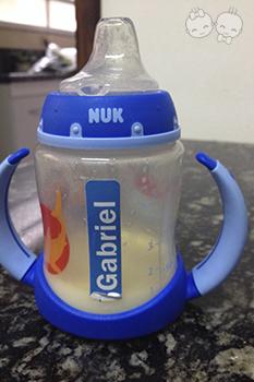 Copo da NUK que o Gabriel usava para tomar meu leite | Crédito: Arquivo Pessoal