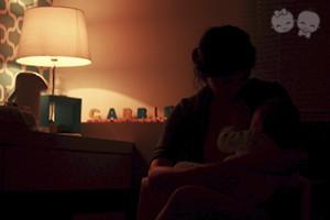 Um dos meus momentos preferidos do dia: amamentar o Gabriel antes de dormir. | Crédito: Arquivo Pessoal