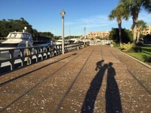 Caminhando pela marina - Hilton Head Island