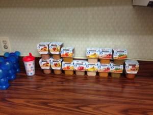 Algumas das papinhas disponíveis no Baby Care Center