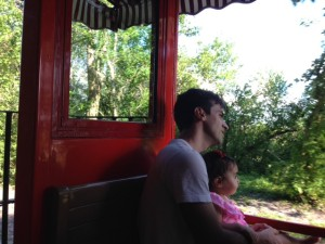 Papai e MA no Walt Disney Railroad