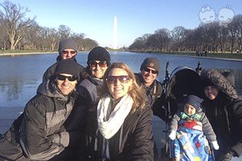 Família em Washington DC. | Crédito: Arquivo pessoal