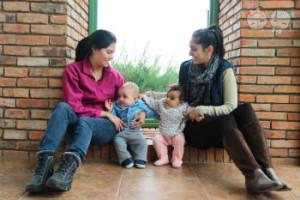 Desde a gravidez, eu e a Ju intensificamos nossa amizade e temos esta forte corrente do bem para nos ajudar, principalmente, no quesito maternidade. | Crédito: Arquivo pessoal