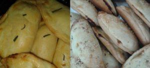 Pastéis de forno feitos pela Magda para o lanche coletivo da escola. | Crédito: Reprodução do Facebook