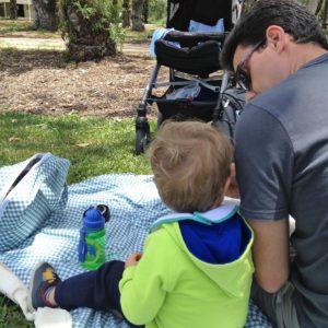 No dia do tchau, fomos ao parque e fizemos um piquenique.   Crédito: Arquivo pessoal
